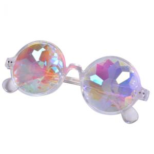 Clear Round Frame Kaldeiscope Glasses