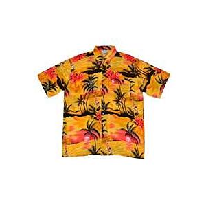 Orange Palm Tree YAtch Shirt XL