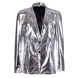 Silver Metallic Blazer M/L
