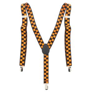 Black/ Orange Checkered 2.5cm Braces