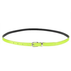 101.5 x 1.3cm Neon Yellow Glossy Rubber Belt