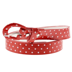 96 x 2cm Red Polka Dot Retro Waist Belt