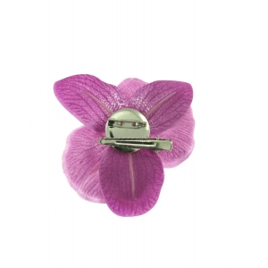 Purple Orchid on Concord Clip & Brooch Pin
