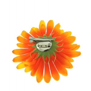 Orange Sunflowers on Concord Clip & Brooch Pin