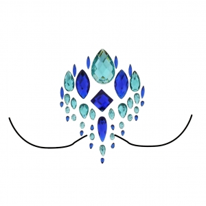 Assorted Blue Crystal Boob Gems/ Jewels - Style A