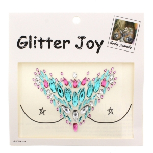 Multicolour& Crystal Boob Gems/ Jewels - Style F