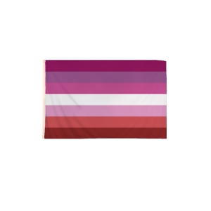 5 x 3 Feet Lesbian Flag with Brass Eyelets