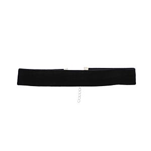 2.5cm Black Velvet Choker with Lobster Clasp Fastening