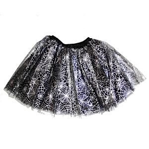 3-Layer Silver Cobweb Design Tutu Skirt