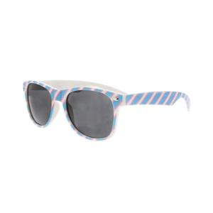 Transgender Coloured Striped Sunglasses