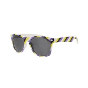 Non-Binary Coloured Striped Sunglasses
