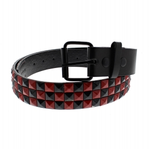 Black & Red Chessboard 3-Row Pyramid Belts