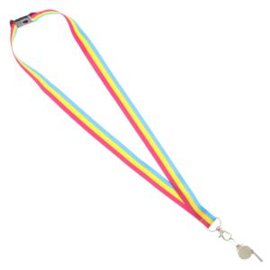 Metal Whistle on Pansexual Lanyard
